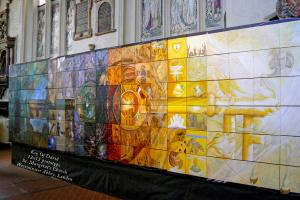 Key Of David Mural A Collaboration Of Artists On Display At Westminster Abbey
